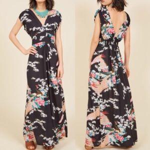 Modcloth Feeling Serene Maxi Dress